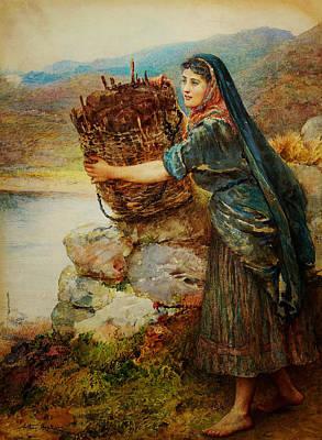 A Connemara Girl Art Print
