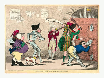 Able Drawing - A Convention Of The Not-ables, Engraving 1787 by Welsh School