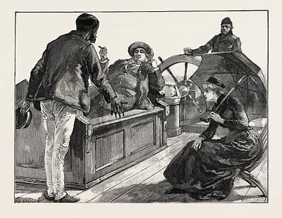 H Drew Drawing - A Conversation On A Ship by Overend, William Heysham (1851-1898), British
