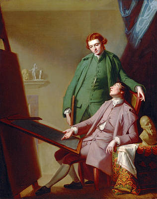 Romney Painting - A Conversation The Artists Brothers, Peter And James Romney by Litz Collection