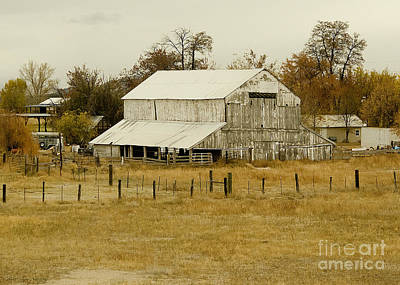 Photograph - A Cool Autumn Day And A Vintage Barn by MaryJane Armstrong