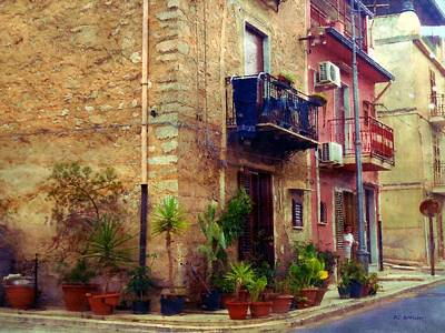 Sicily Painting - A Corner In Sicily by RC deWinter