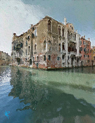 Mixed Media - A Corner In Venice by Russell Pierce