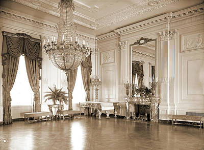 A Corner Of The East Room, White House, Official Residences Art Print by Litz Collection