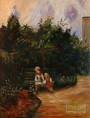 Painting - A Corner Of The Garden At The Hermitage by Silvana Abel