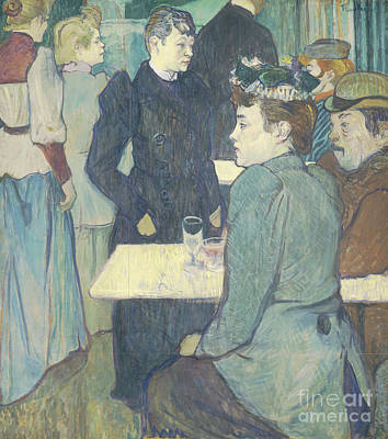 Bar Scene Painting - A Corner Of The Moulin De La Galette by Henri de Toulouse Lautrec