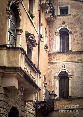 A Corner Of Vicenza Italy Art Print