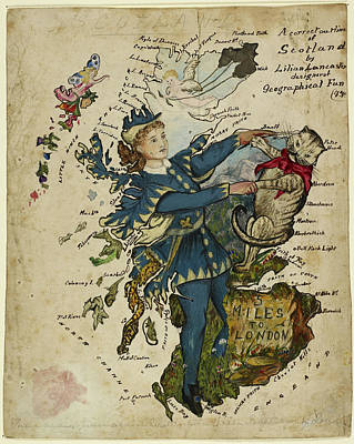 A Correct Outline Of Scotland Print by British Library