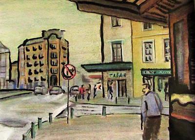Pastel - A Cote De La Metropole A Rouen by Denny Morreale