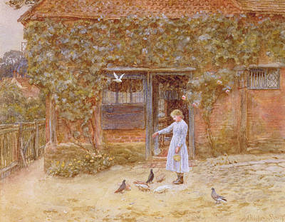 A Cottage At Shere Art Print
