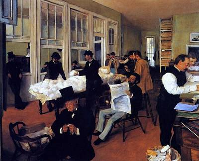Pau Painting - A Cotton Office In New Orleans by Edgar Degas