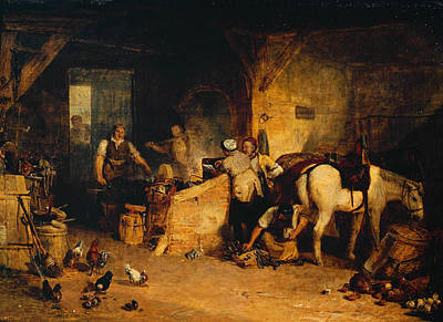 Painting - A Country Blacksmith Disputing Upon The Price Of Iron by Celestial Images