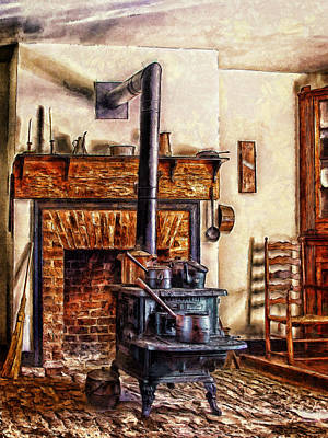 Digital Art - A Country Kitchen by Mary Almond
