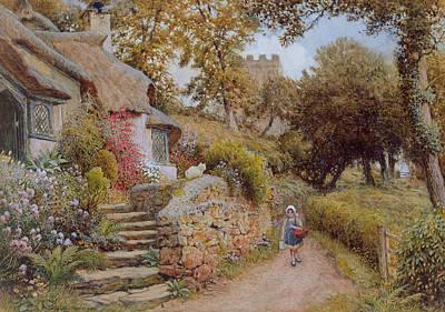 A Country Lane Art Print by Arthur Claude Strachan
