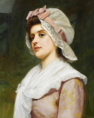 A Country Maid Art Print by Charles Sillem Lidderdale