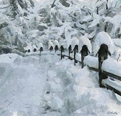 A Country Road In Winter Art Print by Dragica  Micki Fortuna