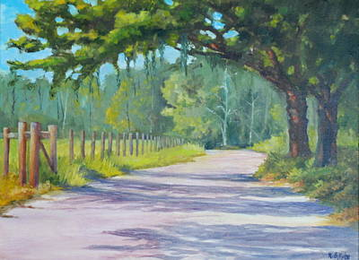 Painting - A Country Road by Rich Kuhn
