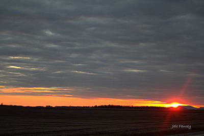 Photograph - A Country Sunset by Jale Fancey