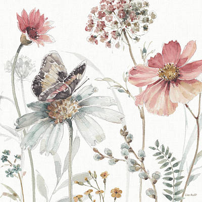Cosmos Flowers Painting - A Country Weekend II by Lisa Audit