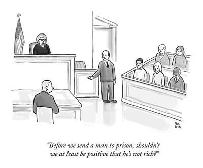 A Courtroom Lawyer Argues His Case Art Print