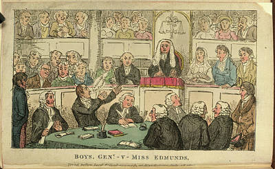 Court House Photograph - A Courtroom Scene by British Library