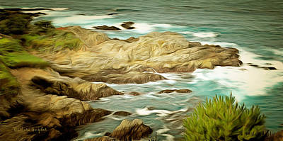 Painting - A Cove At Big Sur by Barbara Snyder