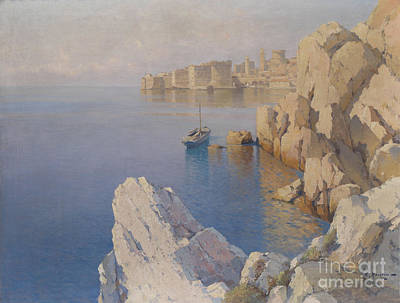 Cathedral Rock Painting - A Cove In Dubrovnik by Celestial Images
