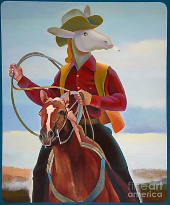 A Cowboy Art Print by Jukka Nopsanen