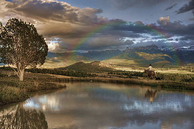 Photograph - A Cowboy Reflects In The Moment by Ken Smith