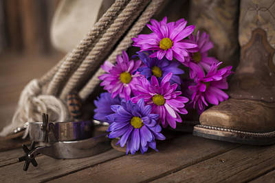 Photograph - A Cowgirl's Flowers by Amber Kresge