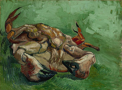 A Crab On Its Back Art Print by Vincent van Gogh