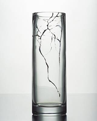 Crystal Photograph - A Cracked Vase by Romulo Yanes