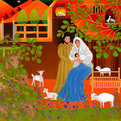 Madonna Digital Art - A Cradle In Bethlehem by Latha Gokuldas Panicker