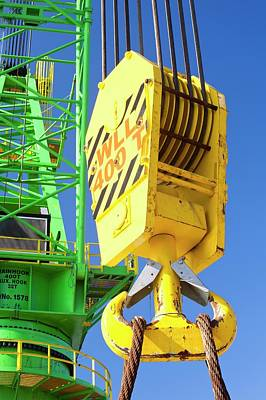 Pulley Photograph - A Crane Hook On A 400 Tonne Crane by Ashley Cooper