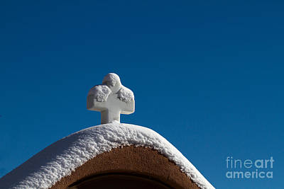 Photograph - A Cross Covered With Snow by Martha Marks