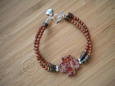 Sterling Silver Bracelet Jewelry - A Cross by Opal Cintron-Heese