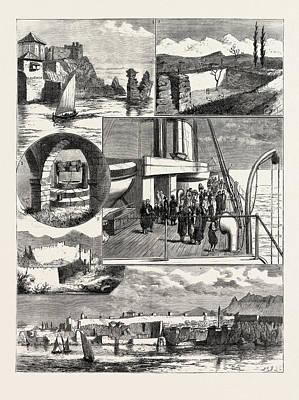 A Cruise Off The Coast Of Karamanili, Asia Minor 1 Art Print by English School