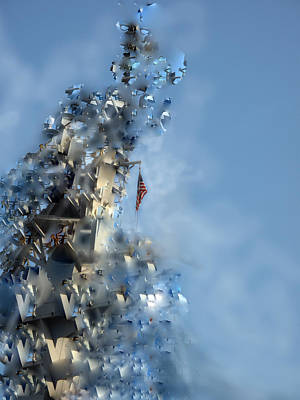 Digital Art - A Crumbling World by Ian  MacDonald