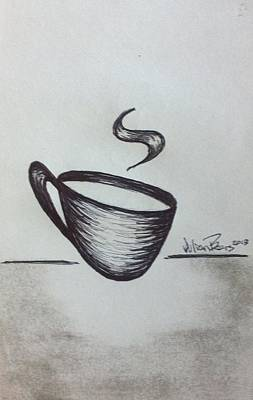 Espresso Drawing - A Cup Full Of Nothing by Julian Bears