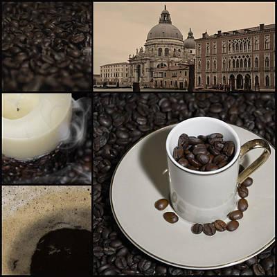 A Cup Of Coffee In Venice - Canal Grande - Elena Yakubovich Art Print by Elena Yakubovich