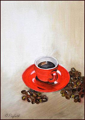 A Cup Of Coffee Art Print by Rafath Khan