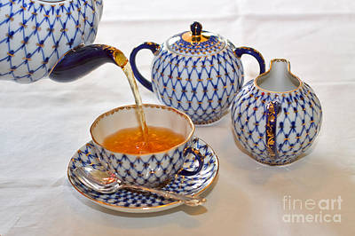 Pour Photograph - A Cup Of Tea by Louise Heusinkveld