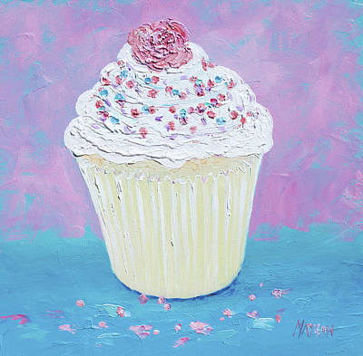 Cake Art Painting - A Cupcake For Your Morning Tea by Jan Matson