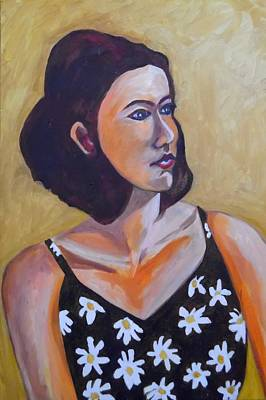 Painting - A Daisy Of A Woman by Esther Newman-Cohen