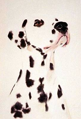 Painting - A Dalmatian Pastel Portrait by Jodie Marie Anne Richardson Traugott          aka jm-ART