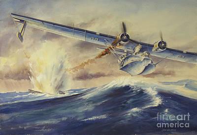 A Damaged Pby Catalina Aircraft Art Print
