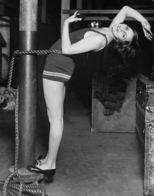 Pole Position Photograph - A Dancer's Exercise by Underwood Archives