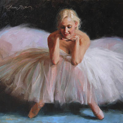 Tutu Painting - A Dancer's Ode To Marilyn by Anna Rose Bain