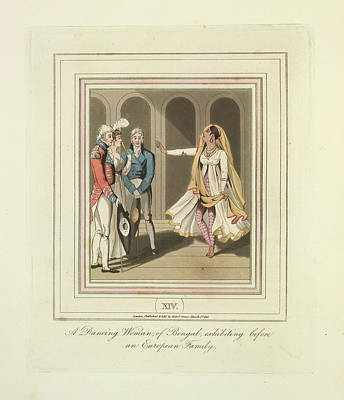 A Dancing Woman Art Print by British Library