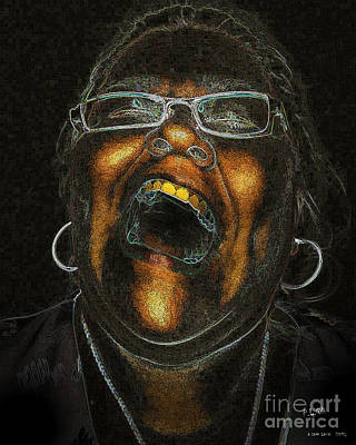 Digital Art - A Dark Laugh by Pedro L Gili